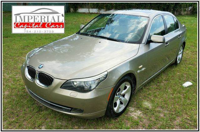 2008 BMW 5 SERIES 528I SEDAN LUXURY gold abs - 4-wheel air filtration - active charcoal airbag