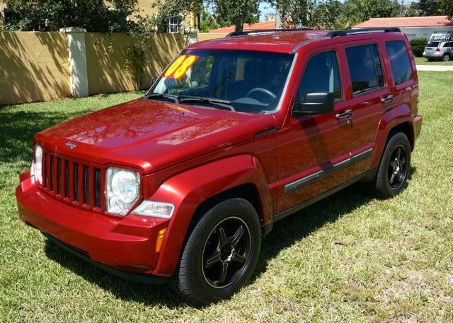 2008 JEEP LIBERTY SPORT 4X4 SUV red rock crystal pearl halogen headlamps wtime off delaybodyside