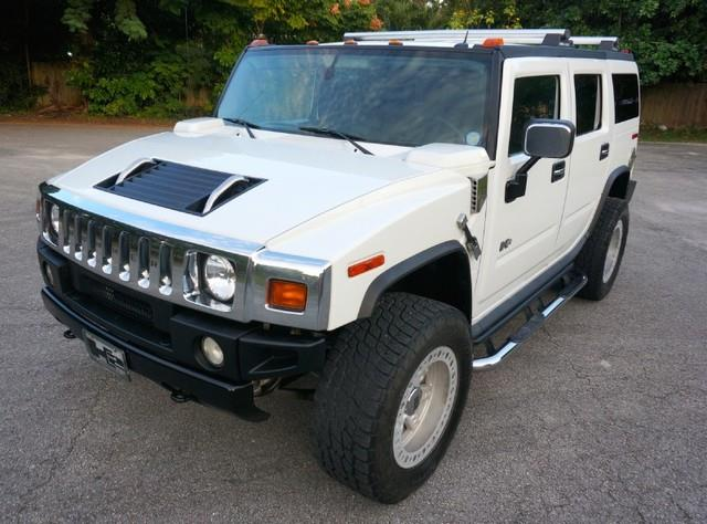 2005 HUMMER H2 SUV CUSTOM LIFT AND WHEELS white imperial capital cars is hollywood floridas 1 u