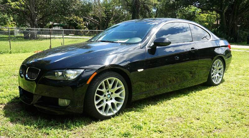 2008 BMW 3 SERIES 328I 2DR COUPE black call 1-754-210-3703 for sales this vehicle fully loa