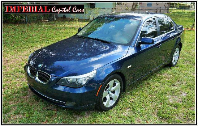 2008 BMW 5 SERIES 528I SEDAN LUXURY blue abs - 4-wheel air filtration - active charcoal airbag