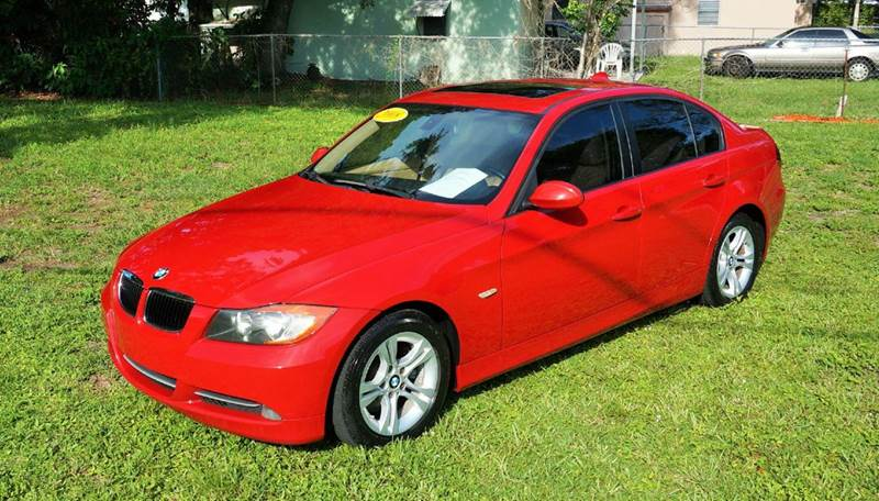 2008 BMW 3 SERIES 328I 4DR SEDAN red call 888-503-0114 for sales imperial capital cars is proud