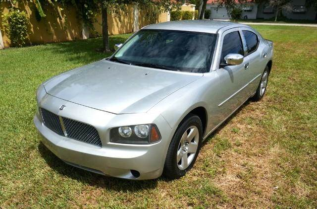 2008 DODGE CHARGER BASE 4DR SEDAN dark titanium metallic imperial capital cars is hollywood florid