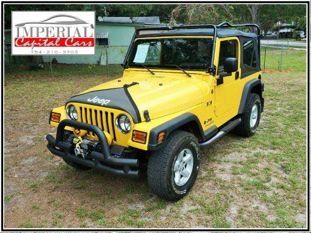 2004 JEEP WRANGLER X 4WD 2DR SUV yellow axle ratio - 307 center console clock front airbags -