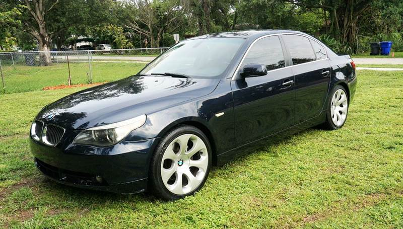 2007 BMW 5 SERIES 525I 4DR SEDAN blue call 1-754-210-3703 for sales this vehicle fully loade