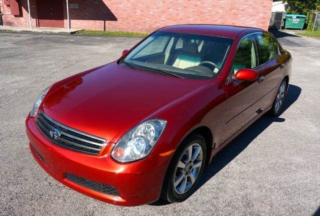 2006 INFINITI G35 BASE 4DR SEDAN 35L V6 5A garnet fire pearl imperial capital cars is hollywoo