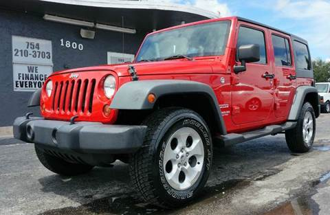 2012 Jeep Wrangler Unlimited for sale in Miramar, FL