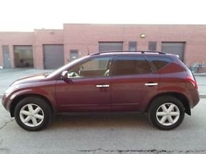 2005 NISSAN MURANO SE 2WD red beautiful 05 nissan murano with 20 and tires every option leather