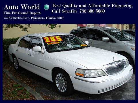 2007 Lincoln Town Car for sale in Plantation, FL