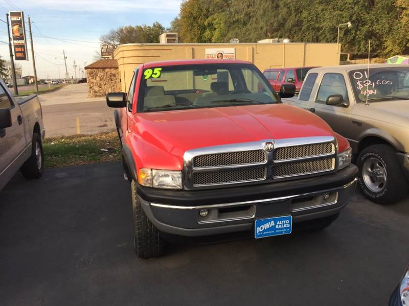 1995 dodge ram pickup 1500 for sale in sioux city ia. Black Bedroom Furniture Sets. Home Design Ideas