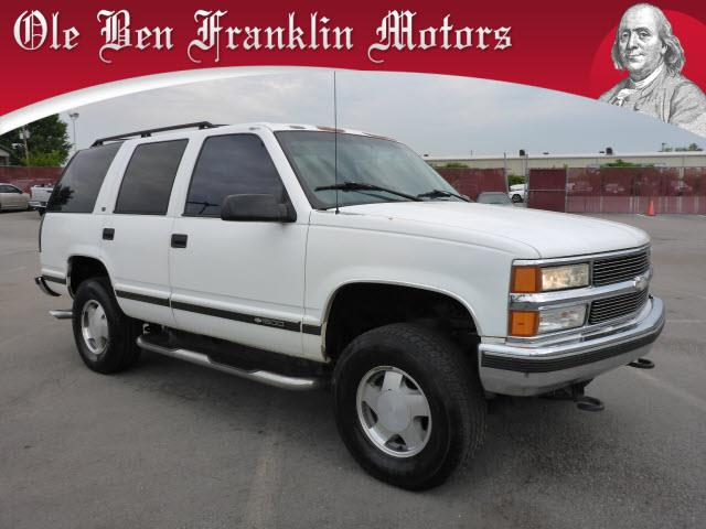1997 CHEVROLET TAHOE LT 4DR 4WD SUV white abs brakes 4-wheelair conditioning - frontairbags -