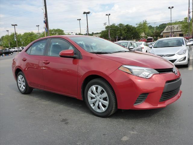 2014 TOYOTA COROLLA LE 4DR SEDAN red rear view camerarear view monitor in dashstability control