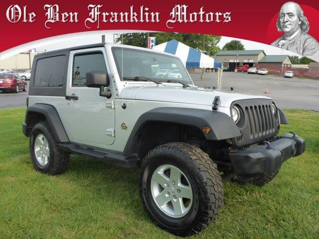 2010 JEEP WRANGLER SPORT 4X4 2DR SUV dark charcoal pearl only 65537 miles scores 19 highway mpg