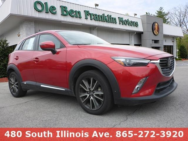2016 MAZDA CX-3 GRAND TOURING gray boasts 35 highway mpg and 29 city mpg this mazda cx-3 deliver