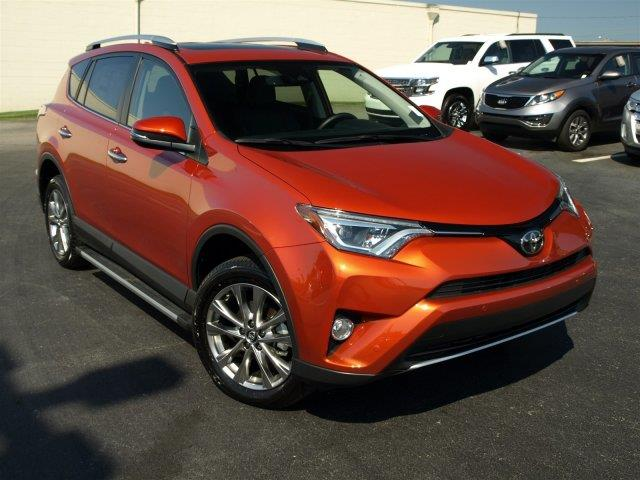 2016 TOYOTA RAV4 LIMITED 4DR SUV red only 1462 miles scores 30 highway mpg and 23 city mpg thi