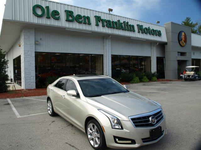 2013 CADILLAC ATS 20T LUXURY AWD 4DR SEDAN summer gold metallic only 24478 miles scores 30 hig