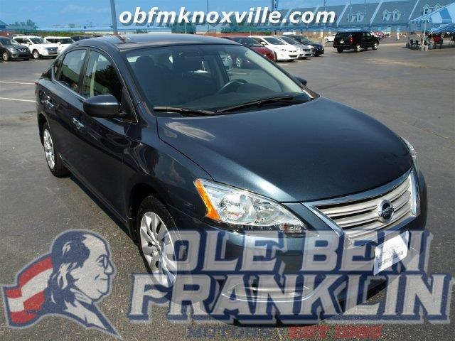 2014 NISSAN SENTRA S 4DR SEDAN 6M graphite blue only 4857 miles boasts 36 highway mpg and 27 ci