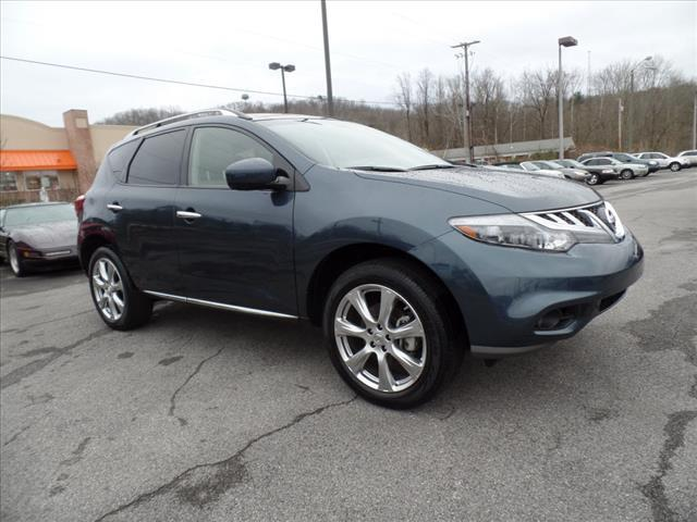 2014 NISSAN MURANO PLATINUM EDITION 4DR SUV dk blue crumple zones front and rearmulti-function