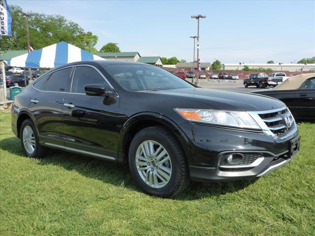 2013 HONDA CROSSTOUR EX 4DR CROSSOVER black rear view monitor in mirrorcrumple zones frontsecur