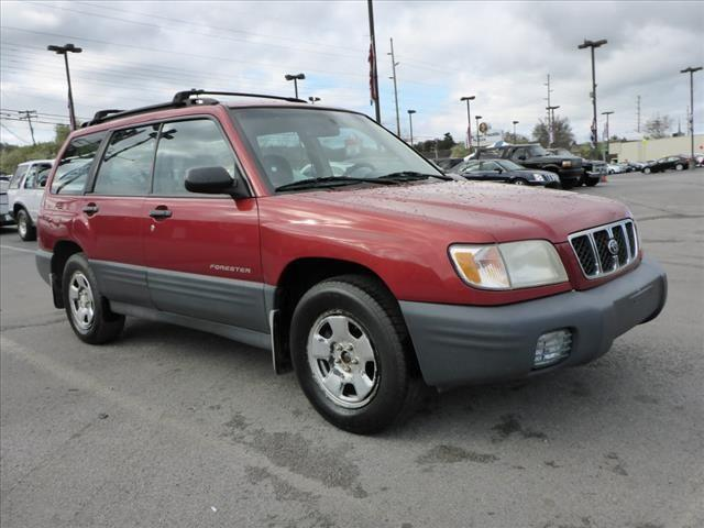 2002 SUBARU FORESTER L AWD 4DR WAGON dk red abs brakes 4-wheelair conditioning - frontairbag