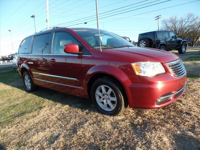 2011 CHRYSLER TOWN AND COUNTRY TOURING-L 4DR MINI VAN red security remote anti-theft alarm system