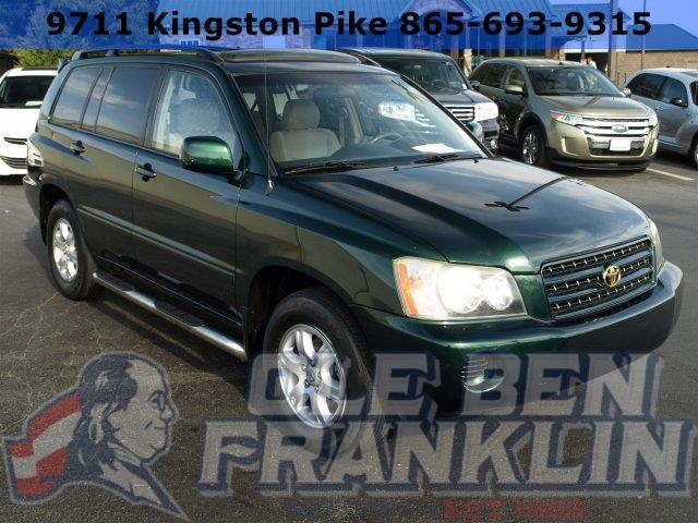 2003 TOYOTA HIGHLANDER green boasts 23 highway mpg and 19 city mpg this toyota highlander boasts