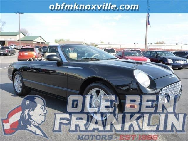 2005 FORD THUNDERBIRD DELUXE 2DR CONVERTIBLE black security anti-theft alarm systemabs brakes 4