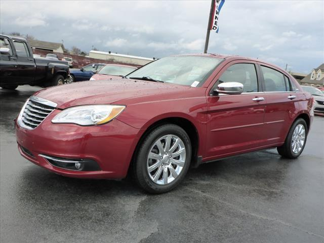 2013 CHRYSLER 200 LIMITED 4DR SEDAN red impact sensor post-collision safety systemsecurity remot