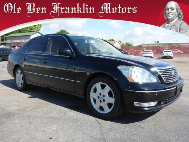 2004 LEXUS LS 430 BASE 4DR SEDAN black memorized settings includes driver seatsecurity anti-thef