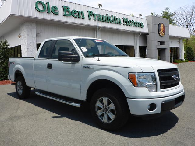 2013 FORD F-150 STX 4X2 4DR SUPERCAB STYLESIDE 6 white impact sensor post-collision safety system