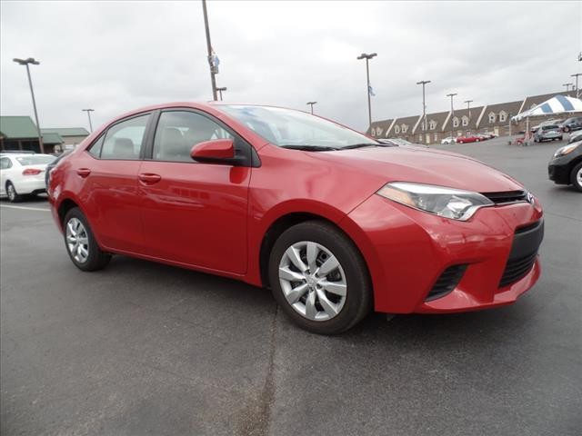 2014 TOYOTA COROLLA LE 4DR SEDAN red crumple zones front and rearmulti-function displaystabilit
