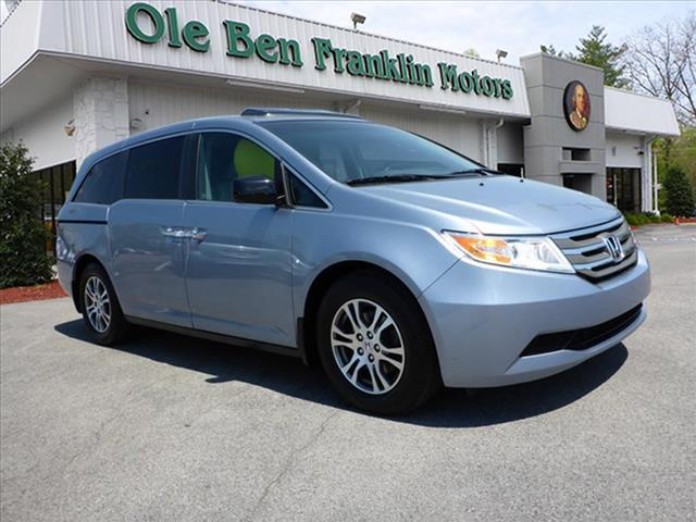 2011 HONDA ODYSSEY EX-L WDVD 4DR MINI VAN WDVD lt blue rear dvdalloys and leather interior