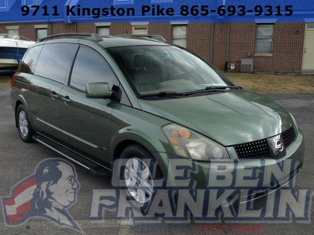 2004 NISSAN QUEST S green tea metallic only 114787 miles scores 26 highway mpg and 19 city mpg