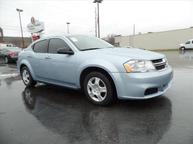 2013 DODGE AVENGER SE 4DR SEDAN lt blue crumple zones front and rearsecurity anti-theft alarm s
