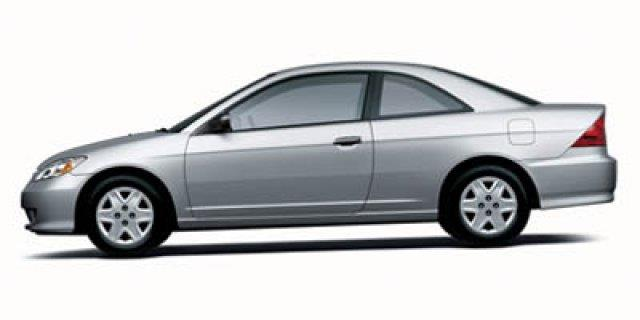 2005 HONDA CIVIC VALUE PACKAGE 2DR COUPE white scores 38 highway mpg and 29 city mpg this honda