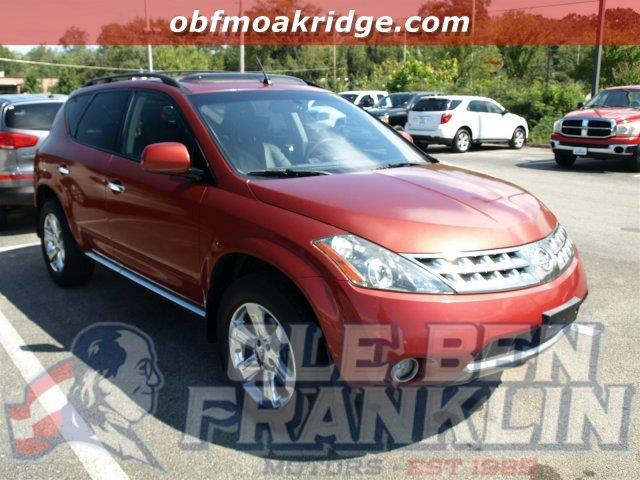 2007 NISSAN MURANO SL 4DR SUV sunset red pearl metallic scores 25 highway mpg and 20 city mpg th