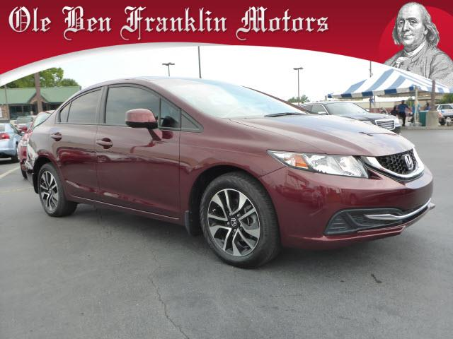 2013 HONDA CIVIC EX WNAVI 4DR SEDAN WNAVI dk red crumple zones frontsecurity remote anti-thef