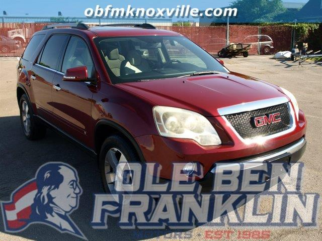 2010 GMC ACADIA SLT-1 4DR SUV red jewel tintcoat scores 24 highway mpg and 17 city mpg this gmc