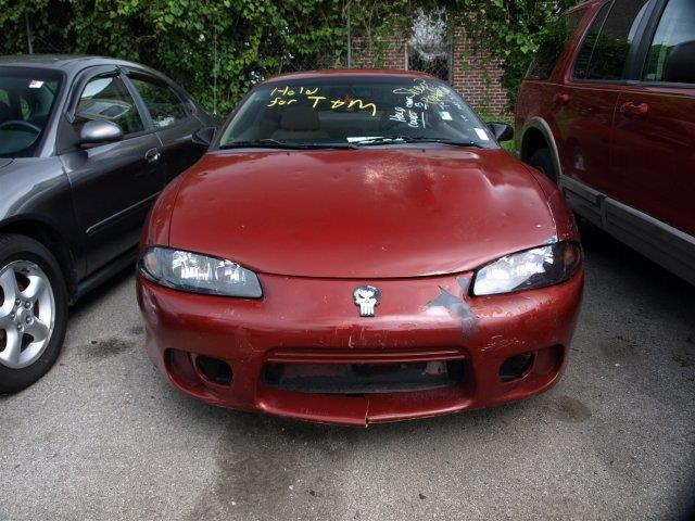 1998 MITSUBISHI ECLIPSE RS 2DR HATCHBACK red only 194970 miles this mitsubishi eclipse delivers