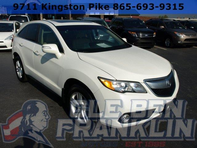 2013 ACURA RDX WTECH 4DR SUV WTECHNOLOGY PACK white diamond pearl scores 28 highway mpg and 20