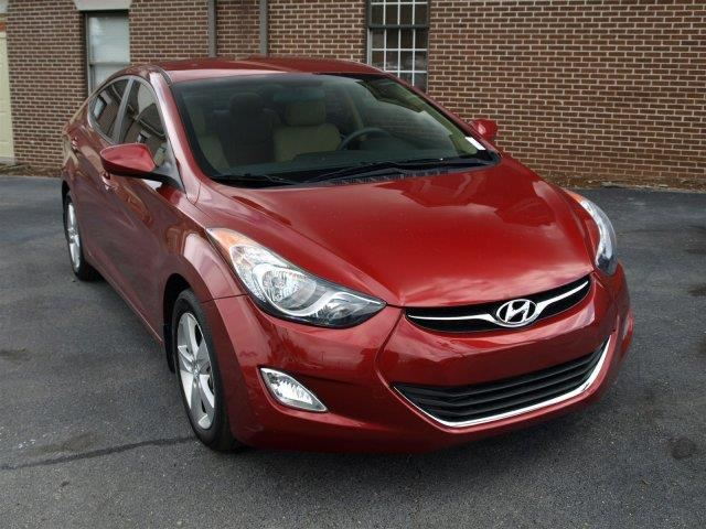 2013 HYUNDAI ELANTRA GLS PZEV red only 33769 miles delivers 38 highway mpg and 28 city mpg thi