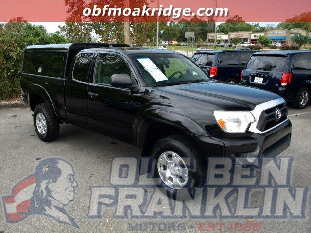 2012 TOYOTA TACOMA V6 4X4 4DR ACCESS CAB 61 FT SB black scores 19 highway mpg and 15 city mpg t