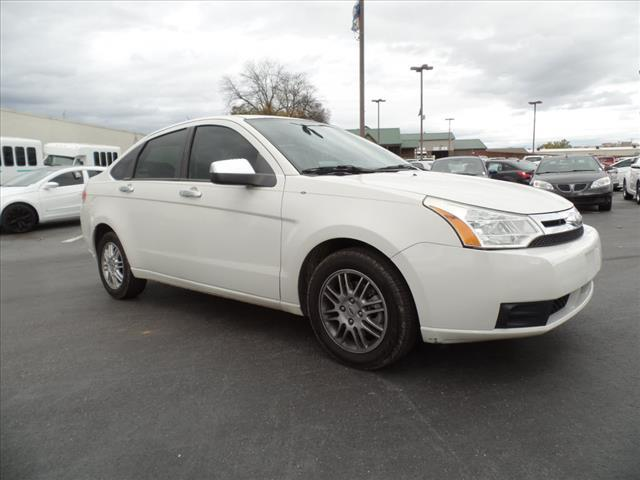 2011 FORD FOCUS SE 4DR SEDAN white security anti-theft alarm systemmulti-function displaystabil