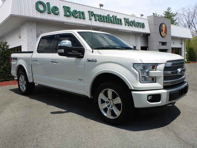 2015 FORD F-150 PLATINUM off white impact sensor post-collision safety systemroll stability cont