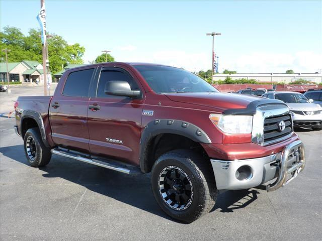 2008 TOYOTA TUNDRA GRADE 4X2 4DR CREWMAX CAB SB 5 dk red stability controlabs brakes 4-wheel