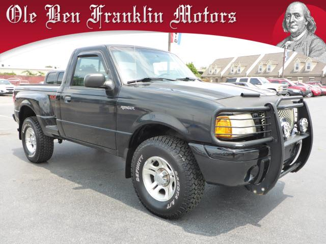 2001 FORD RANGER EDGE 2DR STANDARD CAB 2WD SB black security anti-theft alarm systemabs brakes