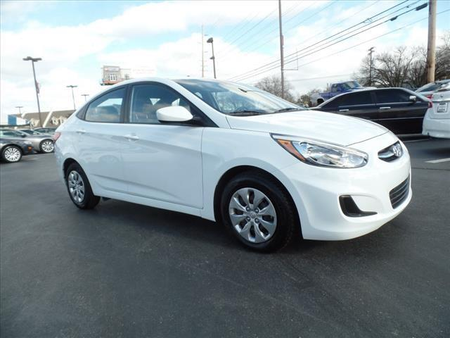 2015 HYUNDAI ACCENT GLS 4DR SEDAN 6A white crumple zones front and rearsecurity remote anti-thef