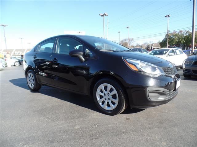 2012 KIA RIO LX 4DR SEDAN 6M black crumple zones front and rearstability controlabs brakes 4-w