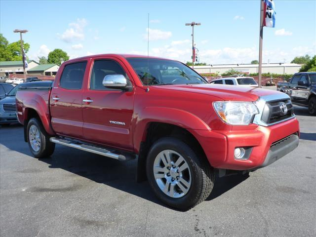 2013 TOYOTA TACOMA PRERUNNER V6 4X2 4DR DOUBLE CAB red stability control electronicabs brakes 4