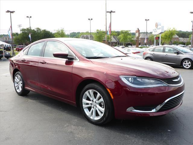 2015 CHRYSLER 200 LIMITED 4DR SEDAN dk red stability control electronicdriver information syste